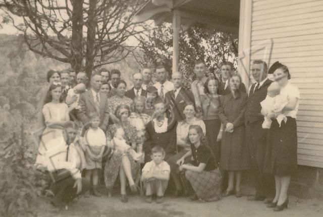 Stevens family at Millard's funeral